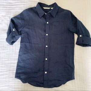 Janie & Jack Boys Linen Button Down Shirt
